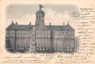 Ansichtkaart Amsterdam Koninklijk Paleis Paardentram Trams 1904 HC29635