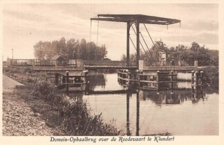 Ansichtkaart Klundert Domein-Ophaalbrug over de Roode Vaart Staatsdomeinen Rentambt Niervaart Moerdijk HC29648