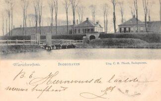 Ansichtkaart Bodegraven Wierickerschans 1900 Nieuwerbrug aan de Rijn Militair HC29652