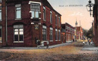Ansichtkaart Bodegraven Prins Hendrikstraat hoek Wilhelminastraat Postkantoor Gereformeerde Kerk 1923 Nauta 11017 HC29681