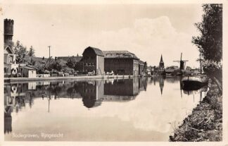 Ansichtkaart Bodegraven Rijngezicht Watertoren Kerk en Molen 1941 HC29690