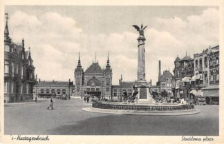 Ansichtkaart 's-Hertogenbosch Stacidoma placo Esperanto tekst Station HC29705