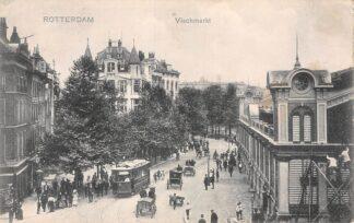 Ansichtkaart Rotterdam Vischmarkt met RTM Tram 3 Lijn 1 HC29707