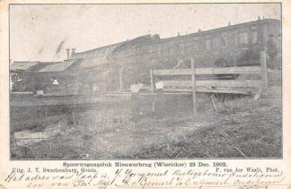 Ansichtkaart Nieuwerbrug aan de Rijn Spoorwegongeluk 23 December 1902 Spoorwegen Bodegraven Woerden HC29720