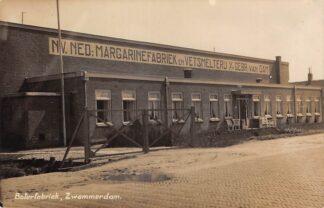 Ansichtkaart Zwammerdam Boterfabriek N.V. Ned. Margarinefabriek en Vetsmelterij v/h Gebr. van Dam Fotokaart HC29724