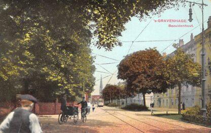 Ansichtkaart 's-Gravenhage Bezuidenhout met HTM Tram 1915 HC29731
