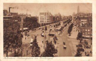 Ansichtkaart Rotterdam Calandplein en Coolsingel 1934 Tram HC29744