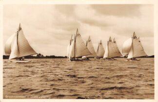 Ansichtkaart Oudewetering Brasemermeer met zeilschepen 1935 HC29752