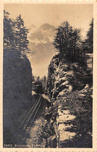 Ansichtkaart Zwitserland Brunigbahn Passhohe 1925 Schweiz Suisse Switzerland Stoomtrein Spoorwegen Europa HC29764