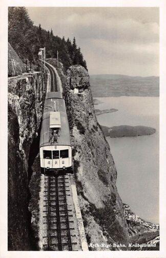 Ansichtkaart Zwitserland Arth-Rigi-Bahn Krabelwand Trein Schweiz Suisse Switzerland Spoorwegen Europa HC29765