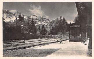 Ansichtkaart Zwitserland Brunig Bahnhof Buffet Sattion Spoorwegen Schweiz Suisse Switzerland Europa HC29776