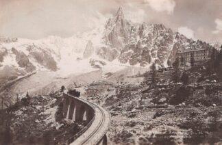 Ansichtkaart Zwitserland Chamonix Aiguitie du Dru et Chemin de fer Trein Spoorwegen Schweiz Suisse Switzerland Europa HC29786