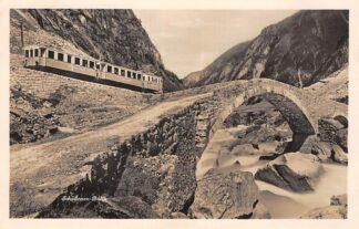Ansichtkaart Zwitserland Schollenen-Bahn Zug Trein Spoorwegen Schweiz Suisse Switzerland Europa  HC29790