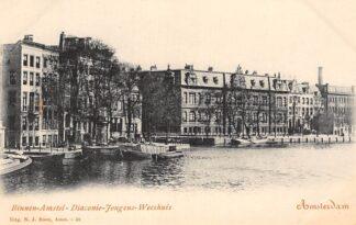 Ansichtkaart Amsterdam Binnen-Amstel Diaconie - Jongens - Weeshuis HC29816