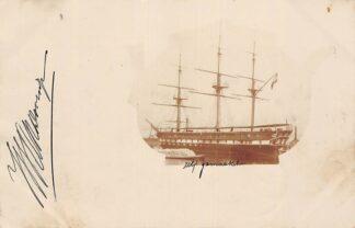 Ansichtkaart Amsterdam Fotokaart Haven Zee zeilschip 1901 Scheepvaart Schepen HC29827