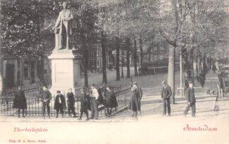 Ansichtkaart Amsterdam Thorbeckeplein met monument HC29828