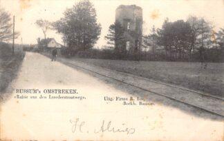 Ansichtkaart Bussum Bussum's Omstreken Ruïne aan den Laarderweg met tramspoor 1903 HC29833