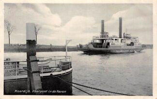 Ansichtkaart Moerdijk Willemsdorp Veerpont in de Haven 1932 Pont Binnenvaart schepen Scheepvaart HC29882
