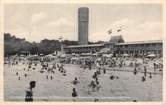Ansichtkaart Bilthoven Sportpark en Natuurbad De Biltsche Duinen Ondiepe bad en cabines 1942 Watertoren Zwembad HC29894