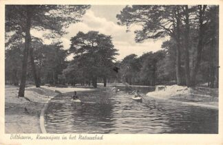 Ansichtkaart Bilthoven Kanovijver in het Natuurbad 1939 Zwembad HC29909