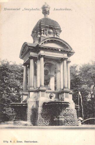 Ansichtkaart Amsterdam Monument Sarphatie HC29918