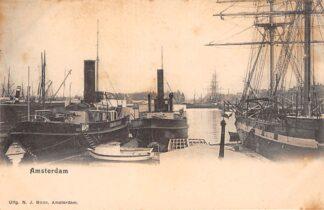 Ansichtkaart Amsterdam Haven IJsbreker Binnenvaart en zee schepen Scheepvaart HC29925