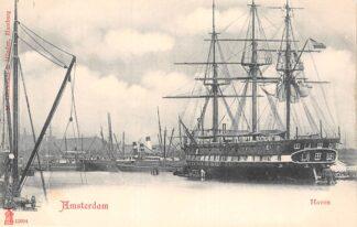 Ansichtkaart Amsterdam Haven Zeilschip Zee en binnenvaart schepen Scheepvaart HC29939