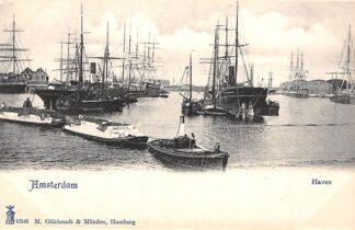 Ansichtkaart Amsterdam Haven Sleepboot Zee en Binnenvaart schepen Scheepvaart HC29940