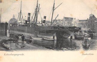 Ansichtkaart Amsterdam Kattenburgergracht met Stoomschip Berenice uit Amsterdam Zee schepen Scheepvaart HC29942