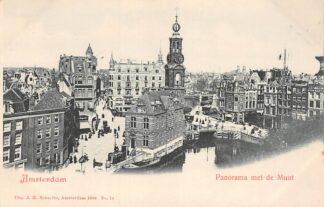 Ansichtkaart Amsterdam Panorama Met de Munt 1900 HC29950