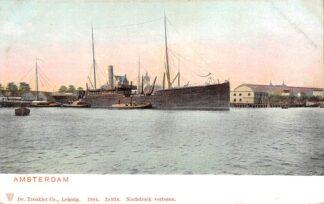 Ansichtkaart Amsterdam 1904 Binnenvaart en zee schepen Scheepvaart HC29991
