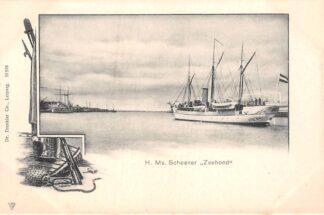 Ansichtkaart Den Helder H. Ms. Schoener Zeehond Marine Scheepvaart HC30001