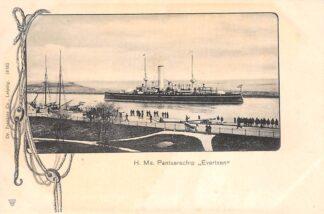 Ansichtkaart Den Helder H. Ms. Pantserschip Evertsen Marine Scheepvaart HC30002