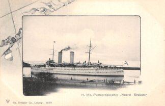 Ansichtkaart Den Helder H. Ms. Pantserdekschip Noord-Brabant Marine Scheepvaart HC30005
