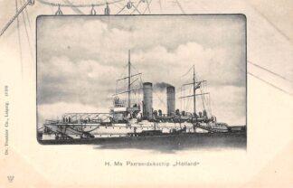Ansichtkaart Den Helder H. Ms. Pantserdekschip Holland Marine Scheepvaart HC30006