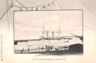 Ansichtkaart Den Helder H. Ms. Pantserdekschip Gelderland Marine Scheepvaart HC30007