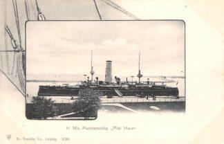 Ansichtkaart Den Helder H. Ms. Pantserschip Piet Hein Marine Scheepvaart HC30008