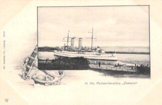 Ansichtkaart Den Helder H. Ms. Pantserdekschip Zeeland Marine Scheepvaart HC30009