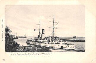 Ansichtkaart Den Helder H. Ms. Pantserdekschip Koningin Wilhelmina Marine Scheepvaart HC30010