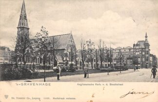 Ansichtkaart 's-Gravenhage Anglicaansche Kerk v.d. Boschstraat 1903 HC30044