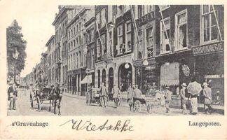 Ansichtkaart 's-Gravenhage Langepoten Sigarenmagazijn 1903 HC30064