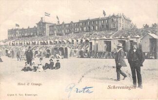 Ansichtkaart Scheveningen Hotel d'Orange Strand 1904 's-Gravenhage HC30082