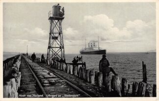 Ansichtkaart Hoek van Holland Uitvaart ss Statendam 1934 Holland America Line Schepen Scheepvaart HC30257