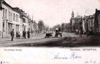 Ansichtkaart Beverwijk 1902 Breestraat met hondenkar HC30269