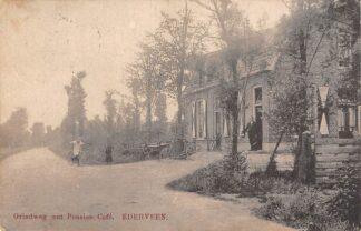 Ansichtkaart Ederveen Grindweg met Pension Café 1925 Ede Veluwe HC30274