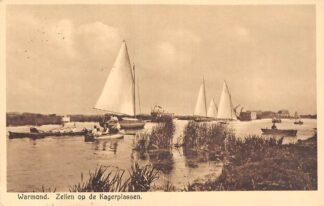 Ansichtkaart Warmond Zeilen op de Kagerplassen 1936 Zeil schepen HC30283