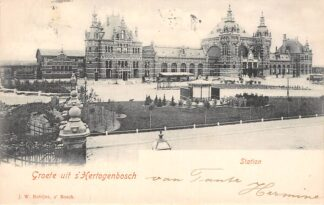 Ansichtkaart 's-Hertogenbosch Station Tram Spoorwegen 1900 HC30445